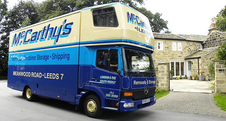 McCarthy's Removals Van Close