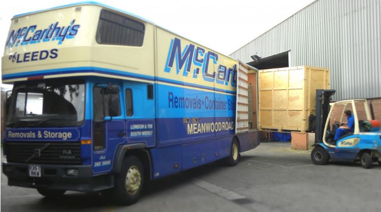 Container Storage into Removal van
