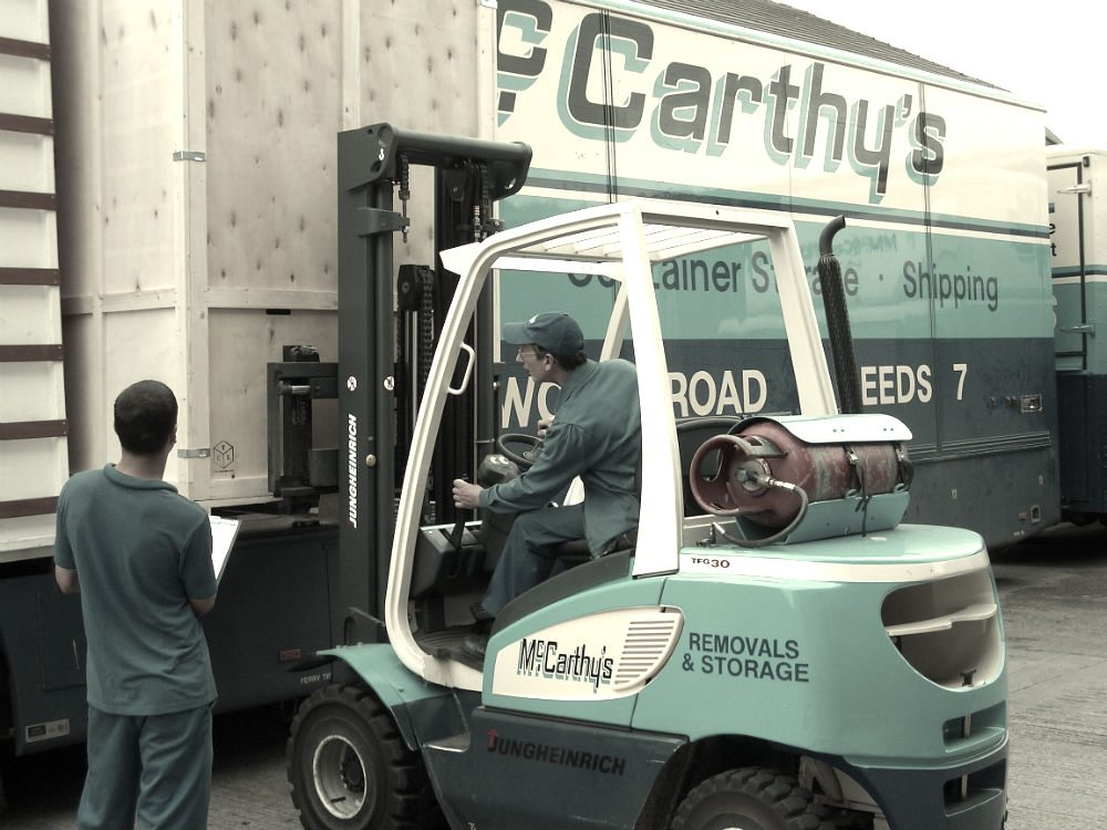 using forklift for container edited