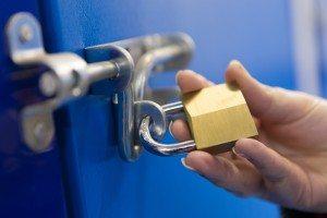 locked storage door