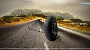 Tyre-Running-On-A-Road