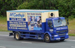 mccarthys shredding van