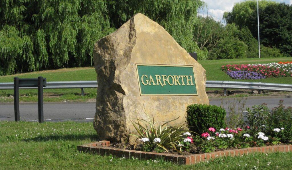 Garforth Welcome Sign