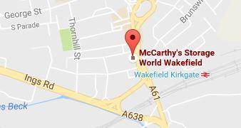Storage World Wakefield Map