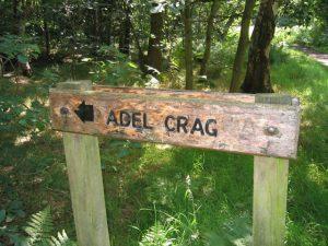 Adel Crag Signpost