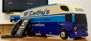mccarthys removals van phone
