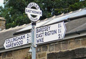 East Keswick Centre Sign