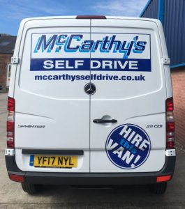 New Hire Van Rear