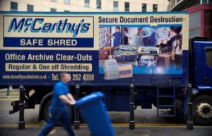 Shredding Van Side
