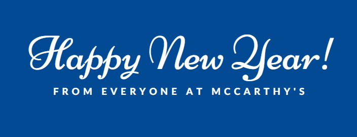 McCarthy's Removals NYD Banner